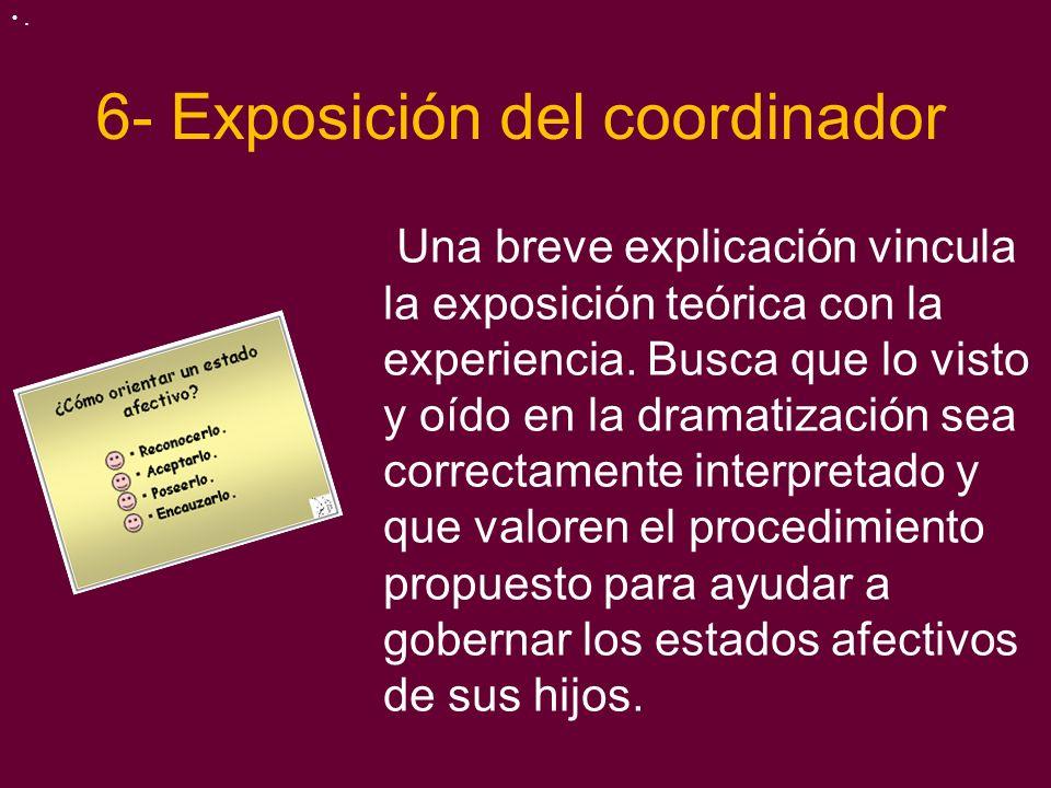 6- Exposición del coordinador