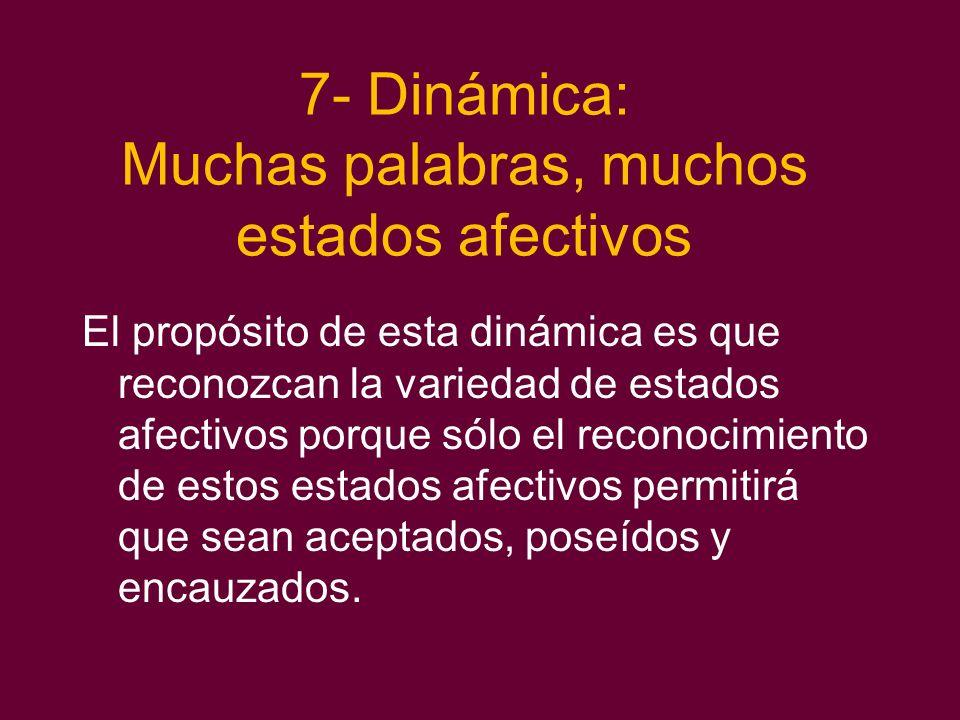 7- Dinámica: Muchas palabras, muchos estados afectivos