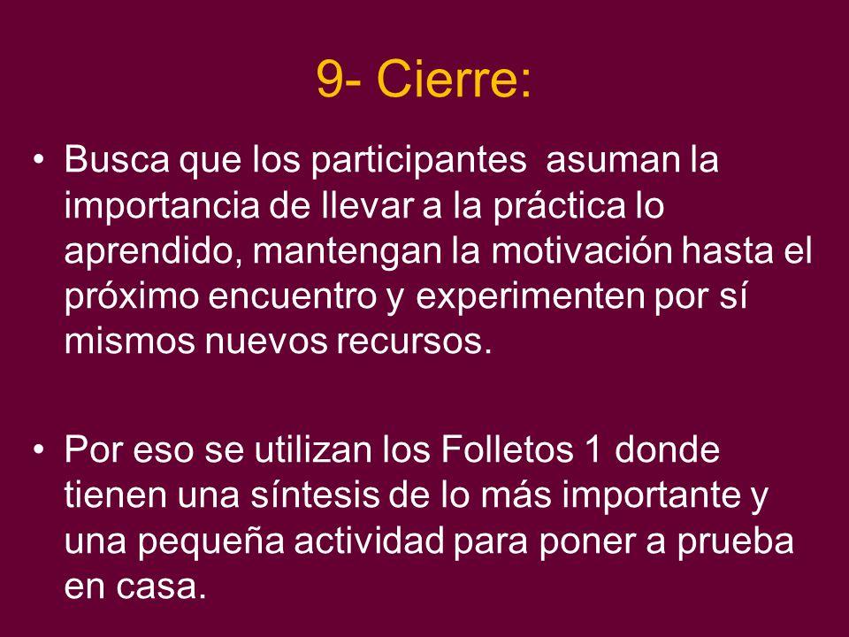 9- Cierre: