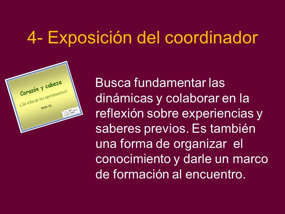 4- Exposición del coordinador