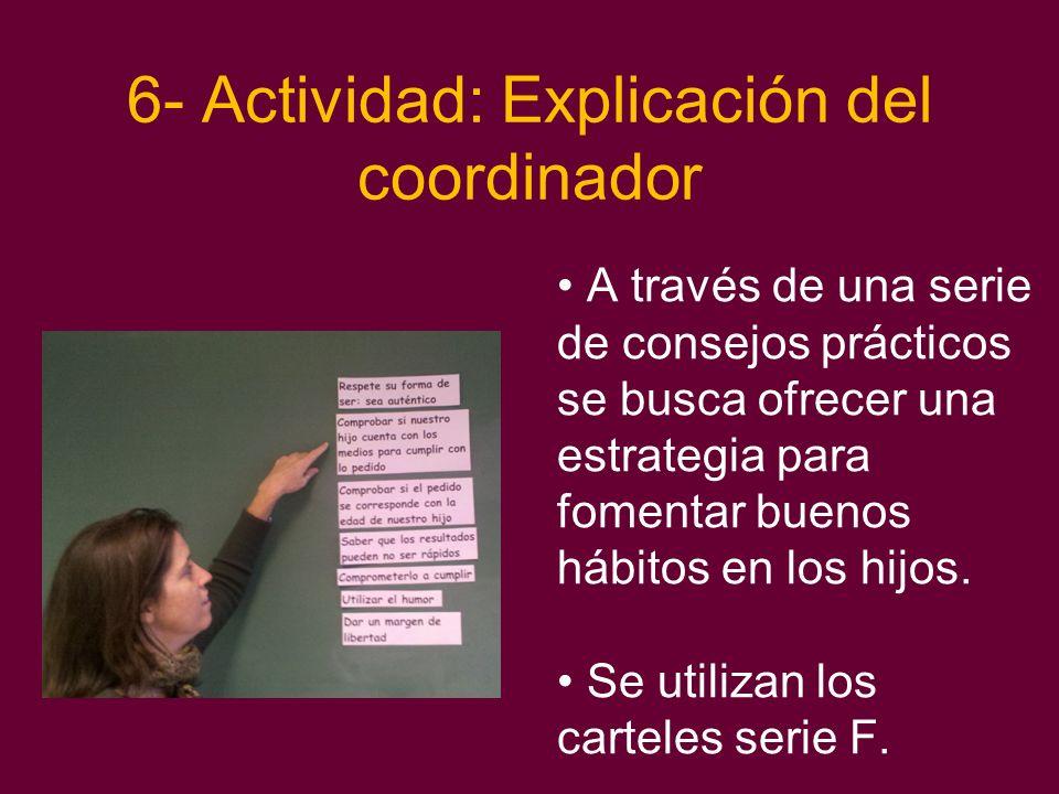 6- Actividad: Explicación del coordinador
