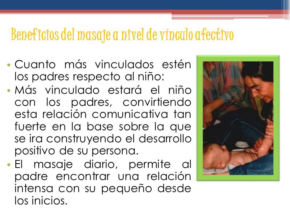 Beneficios del masaje a nivel de vínculo afectivo