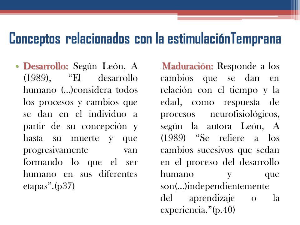 Conceptos relacionados con la estimulaciónTemprana