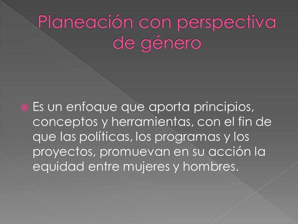 Planeación con perspectiva de género