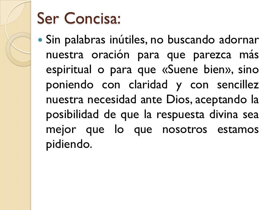 Ser Concisa: