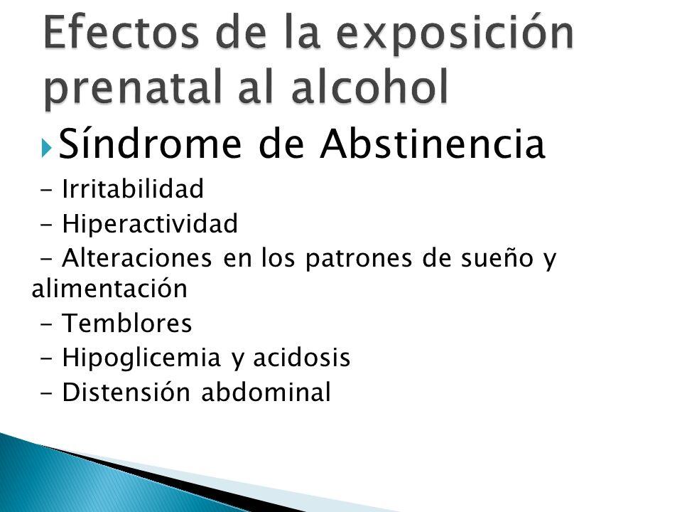Efectos de la exposición prenatal al alcohol