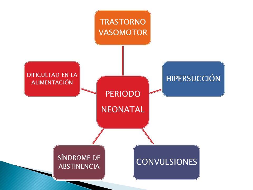PERIODO NEONATAL CONVULSIONES TRASTORNO VASOMOTOR HIPERSUCCIÓN