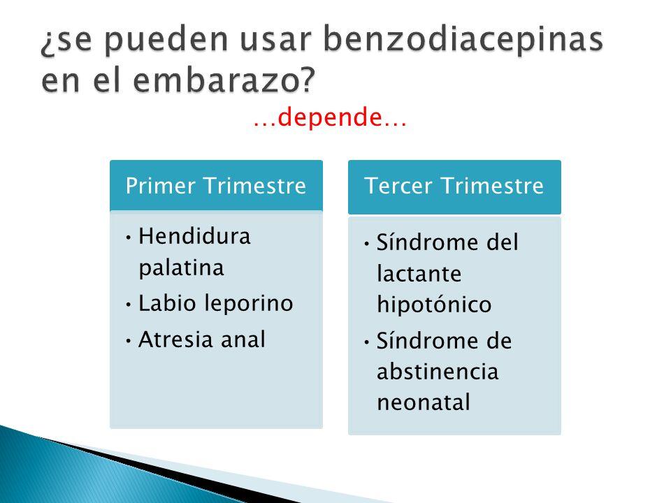 ¿se pueden usar benzodiacepinas en el embarazo