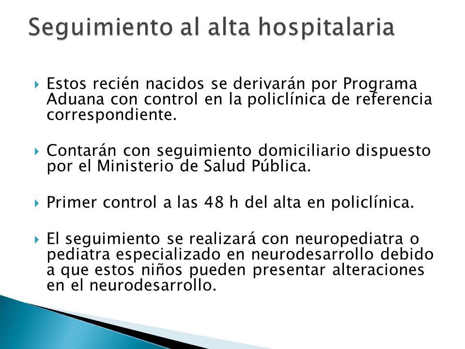 Seguimiento al alta hospitalaria