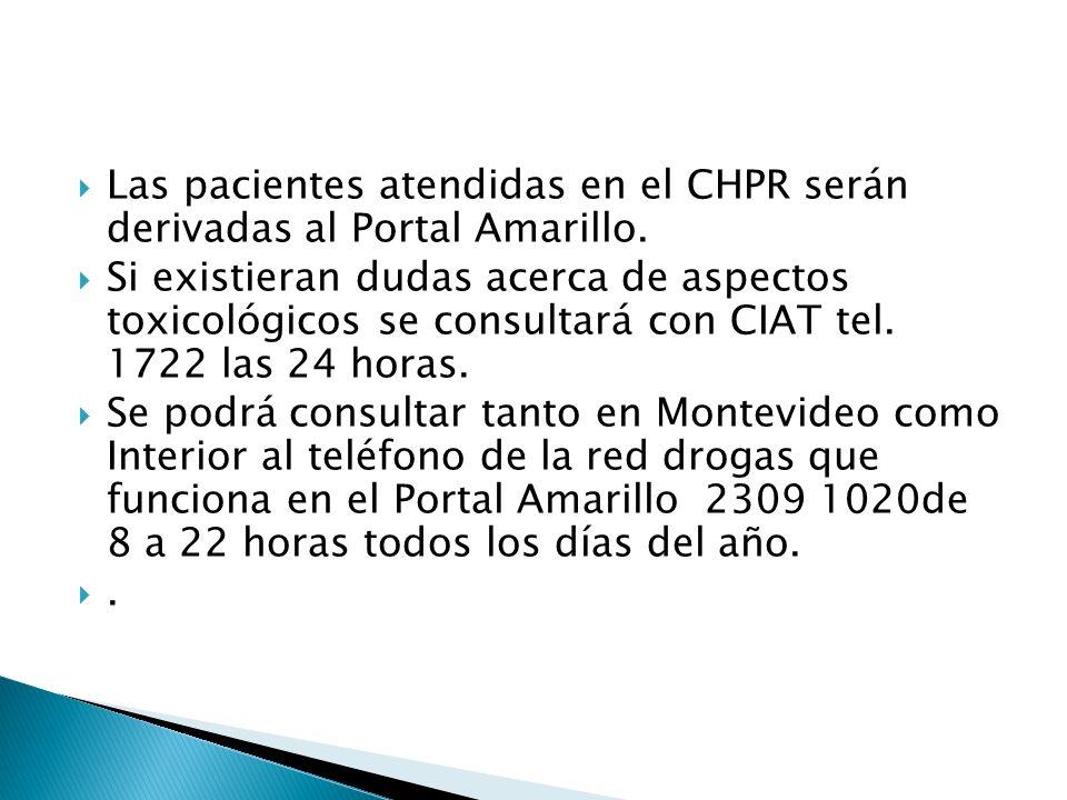 Las pacientes atendidas en el CHPR serán derivadas al Portal Amarillo.