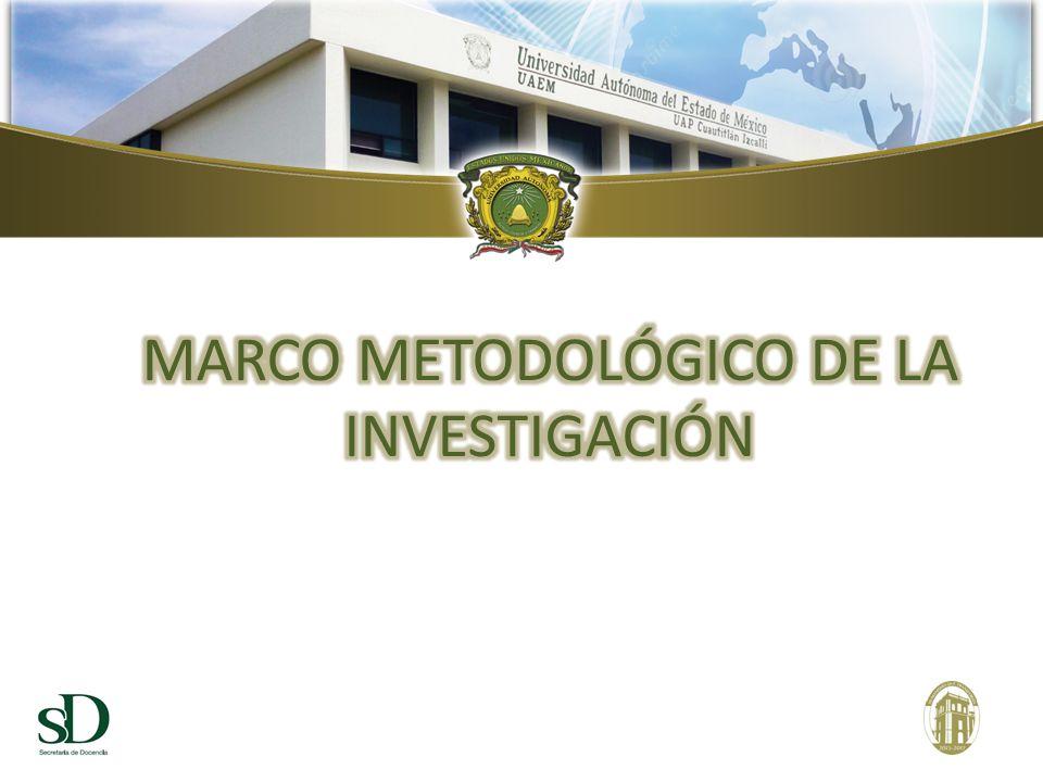MARCO METODOLÓGICO DE LA INVESTIGACIÓN