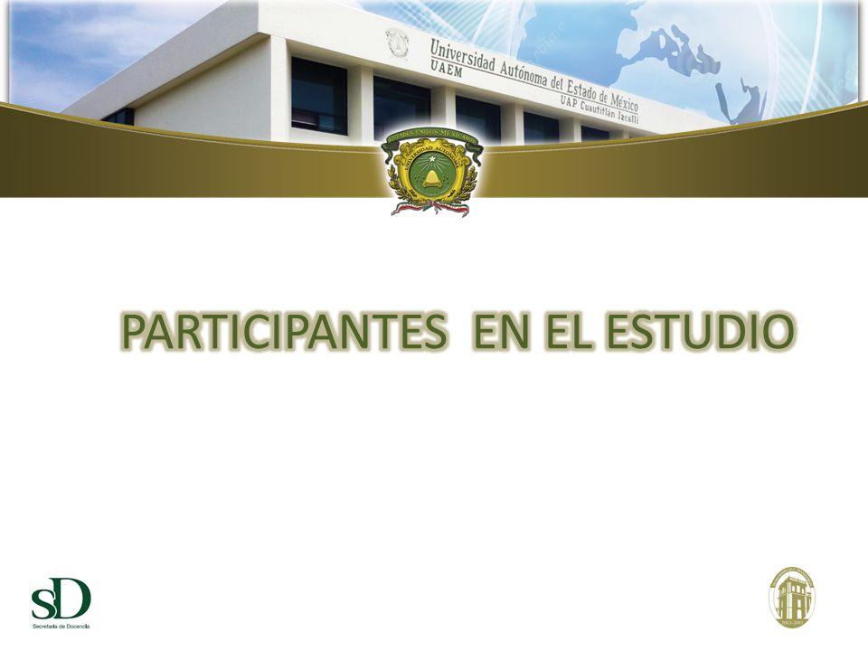 PARTICIPANTES EN EL ESTUDIO