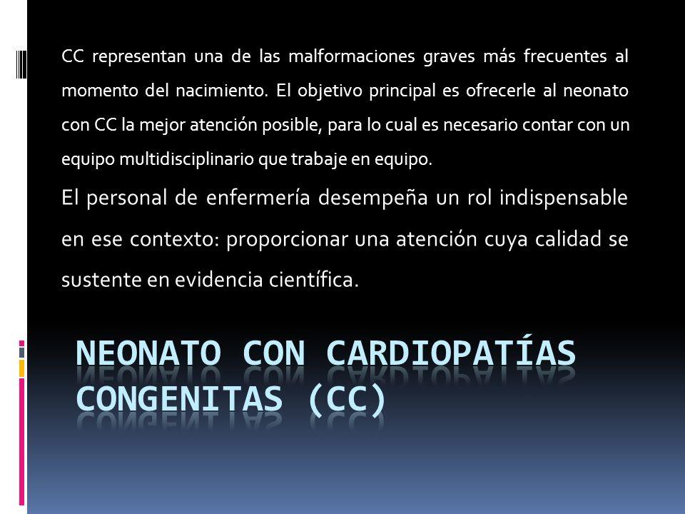 Neonato con cardiopatías congenitas (CC)