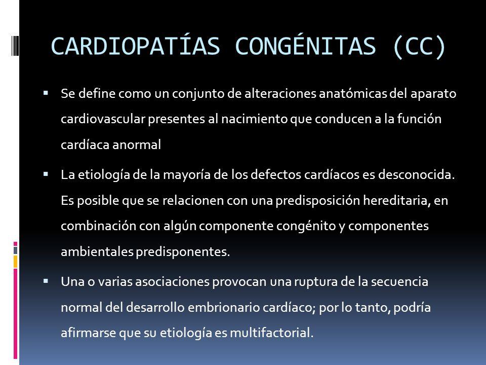 CARDIOPATÍAS CONGÉNITAS (CC)
