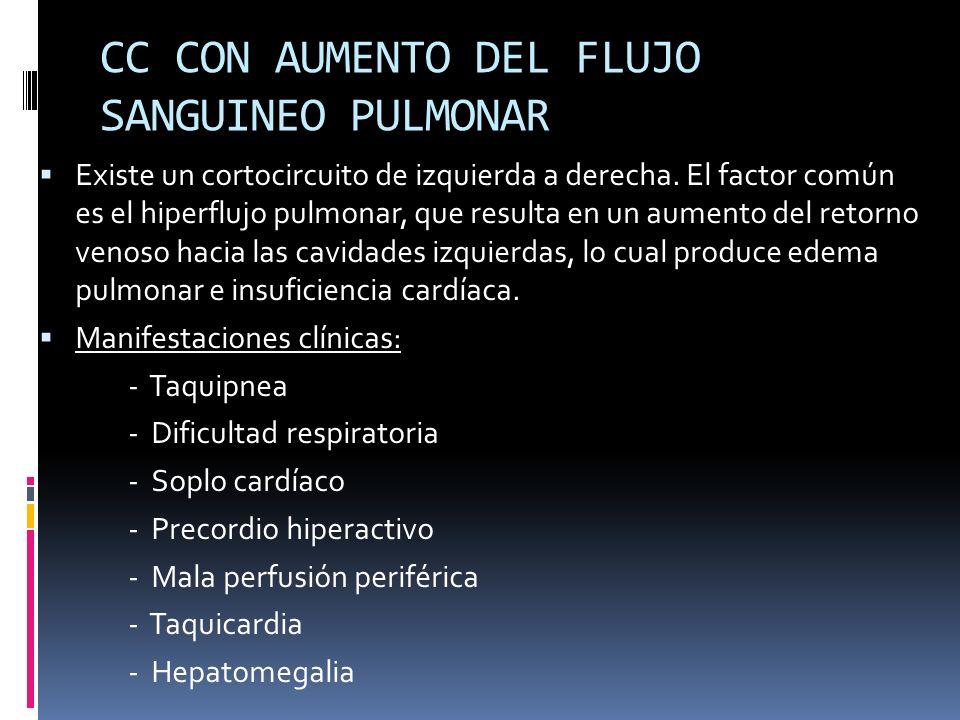 CC CON AUMENTO DEL FLUJO SANGUINEO PULMONAR