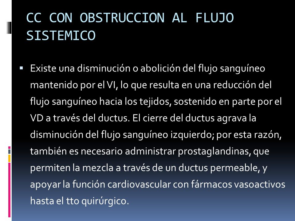 CC CON OBSTRUCCION AL FLUJO SISTEMICO