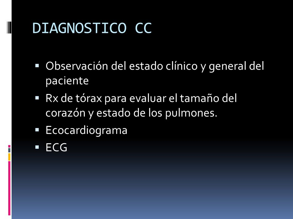 DIAGNOSTICO CC Observación del estado clínico y general del paciente
