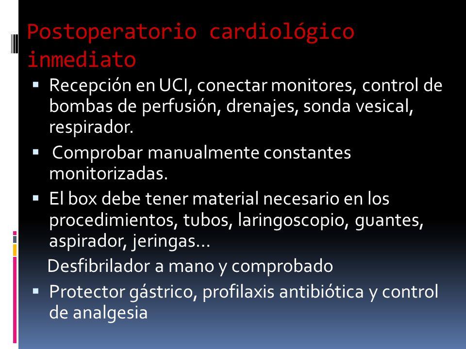 Postoperatorio cardiológico inmediato