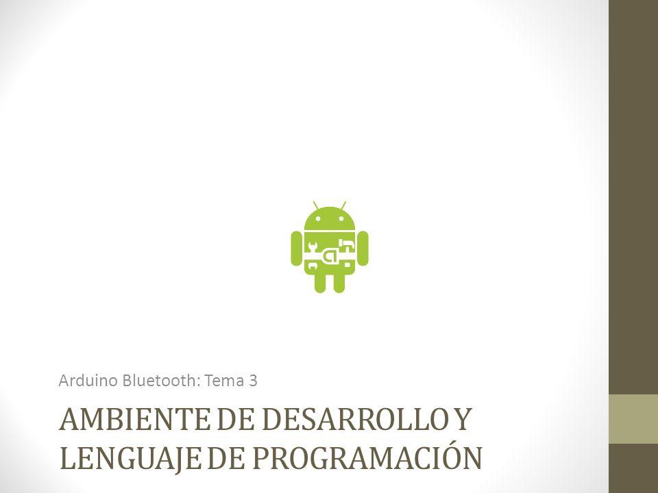 Ambiente de desarrollo y lenguaje de programación