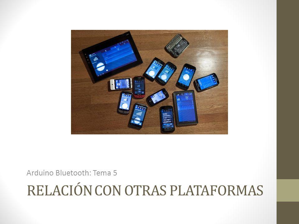 Relación con otras plataformas