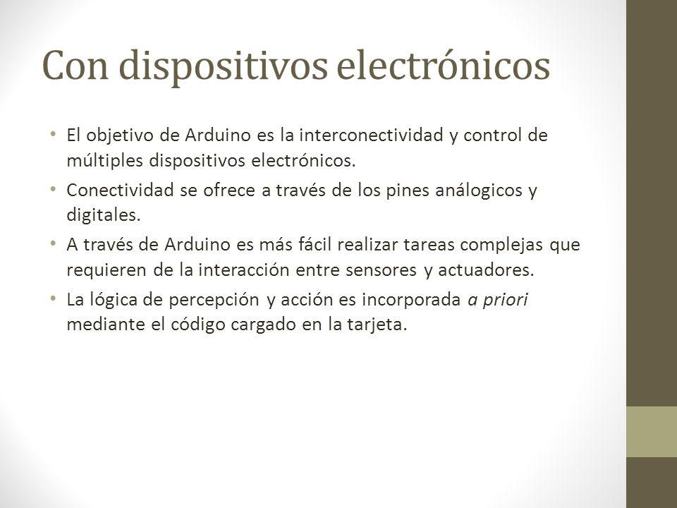 Con dispositivos electrónicos