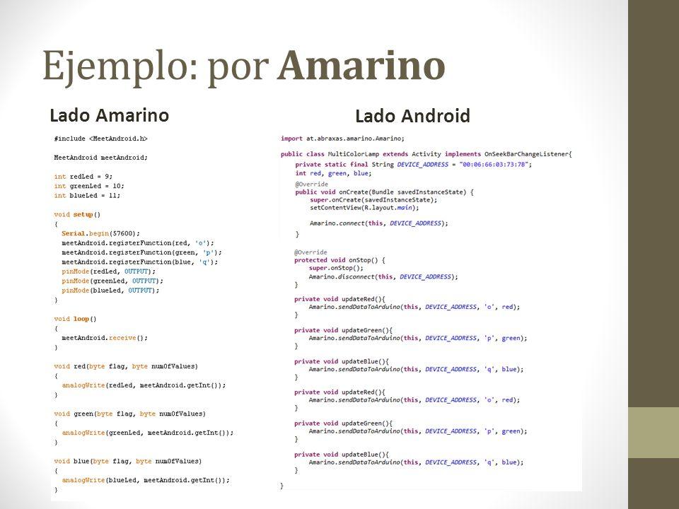 Ejemplo: por Amarino Lado Amarino Lado Android