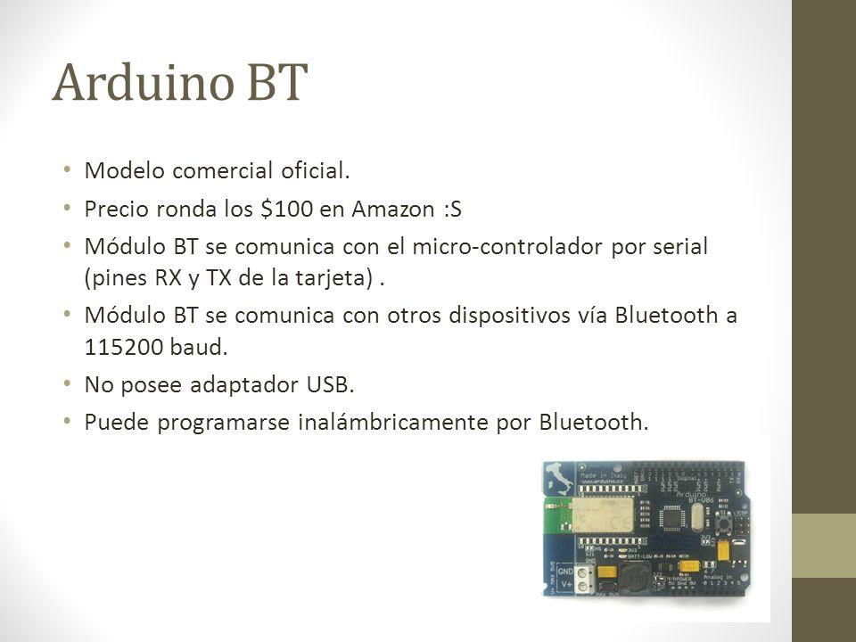 Arduino BT Modelo comercial oficial.