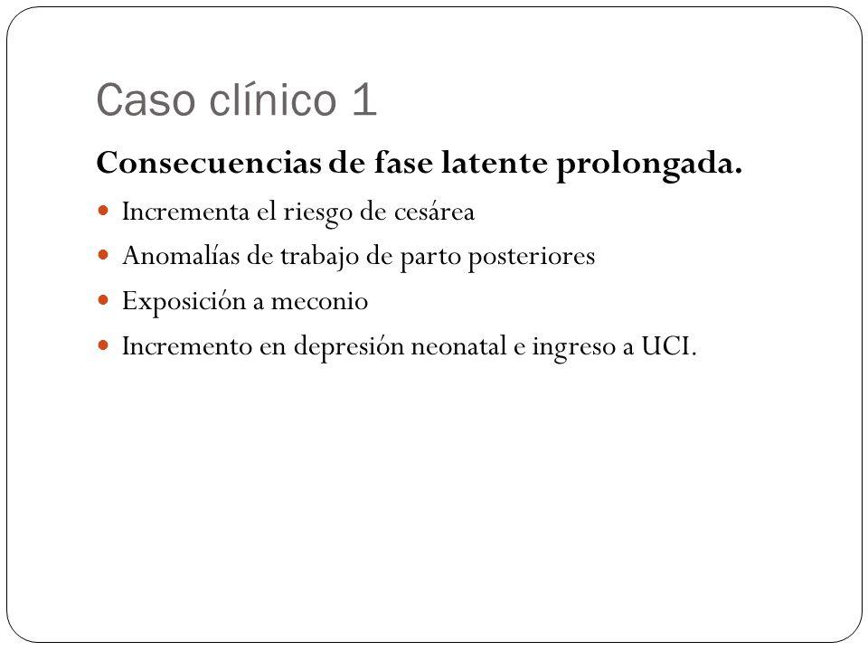 Caso clínico 1 Consecuencias de fase latente prolongada.