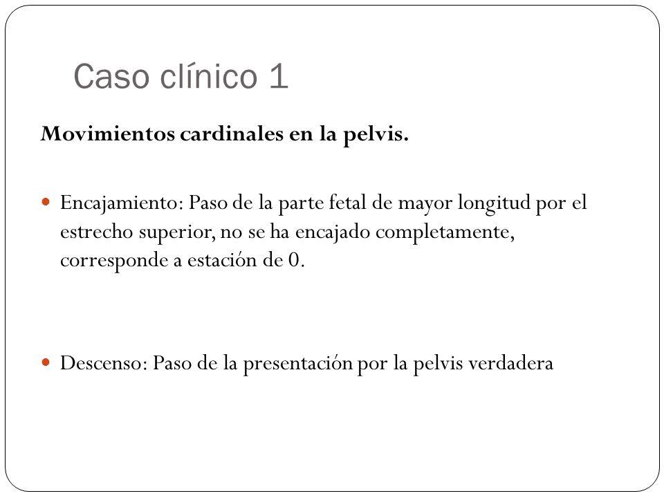 Caso clínico 1 Movimientos cardinales en la pelvis.