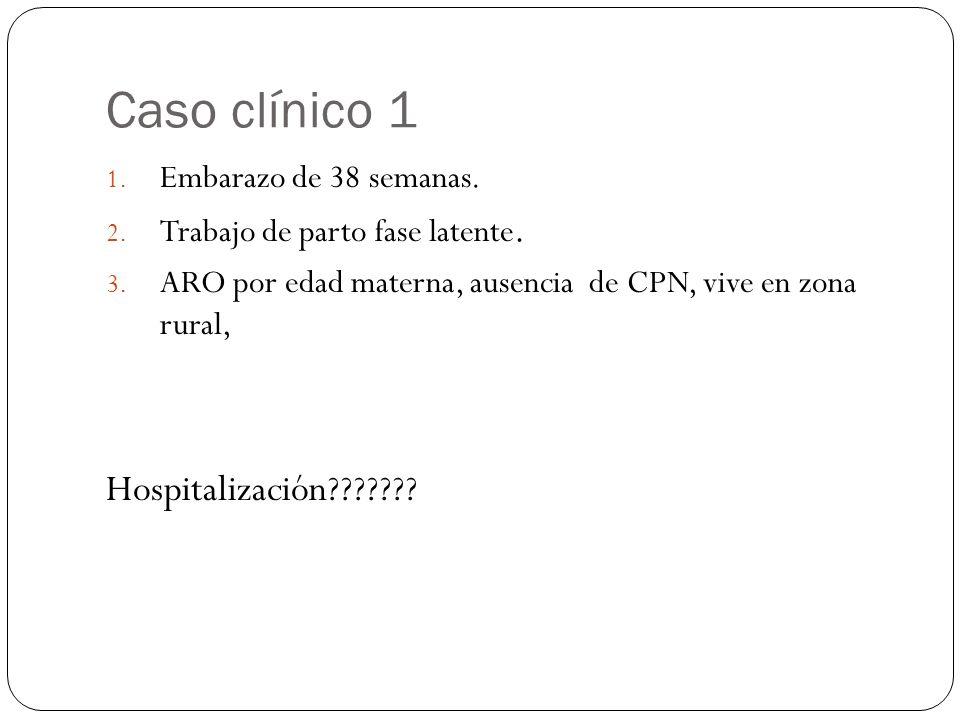 Caso clínico 1 Hospitalización Embarazo de 38 semanas.