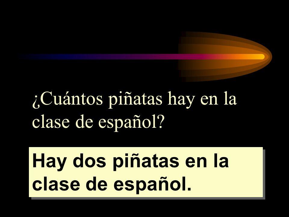 ¿Cuántos piñatas hay en la clase de español