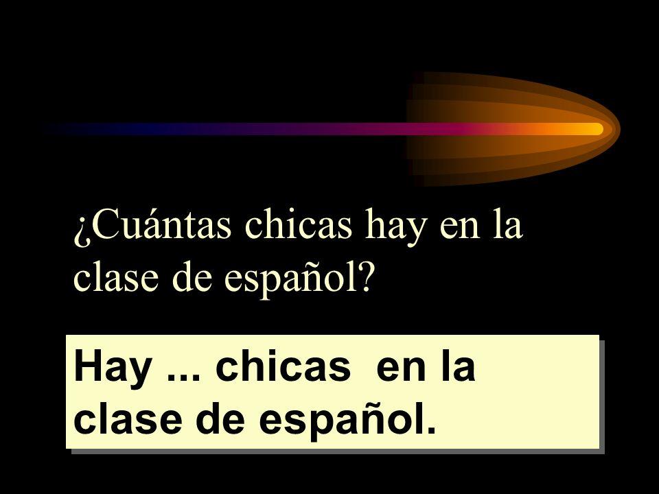 ¿Cuántas chicas hay en la clase de español
