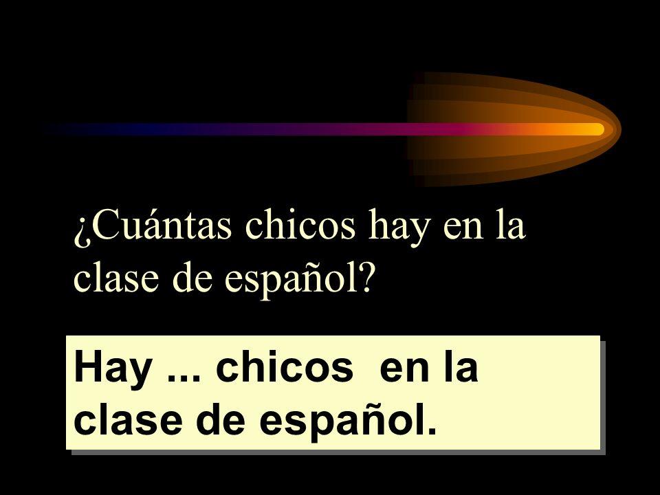 ¿Cuántas chicos hay en la clase de español