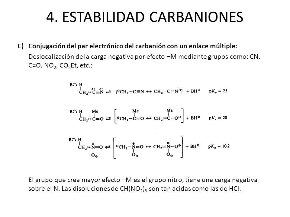 4. ESTABILIDAD CARBANIONES