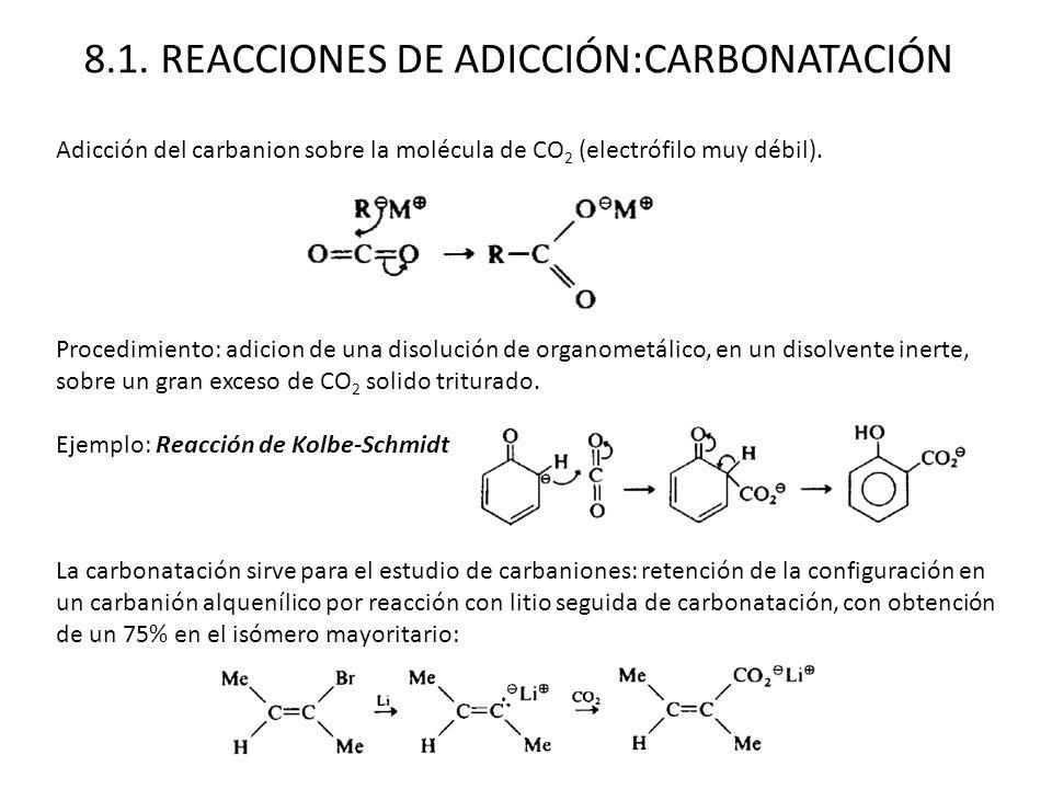 8.1. REACCIONES DE ADICCIÓN:CARBONATACIÓN
