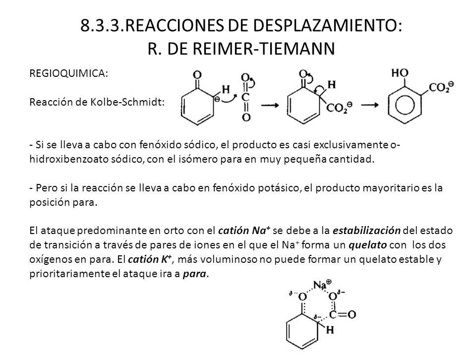 8.3.3.REACCIONES DE DESPLAZAMIENTO: R. DE REIMER-TIEMANN