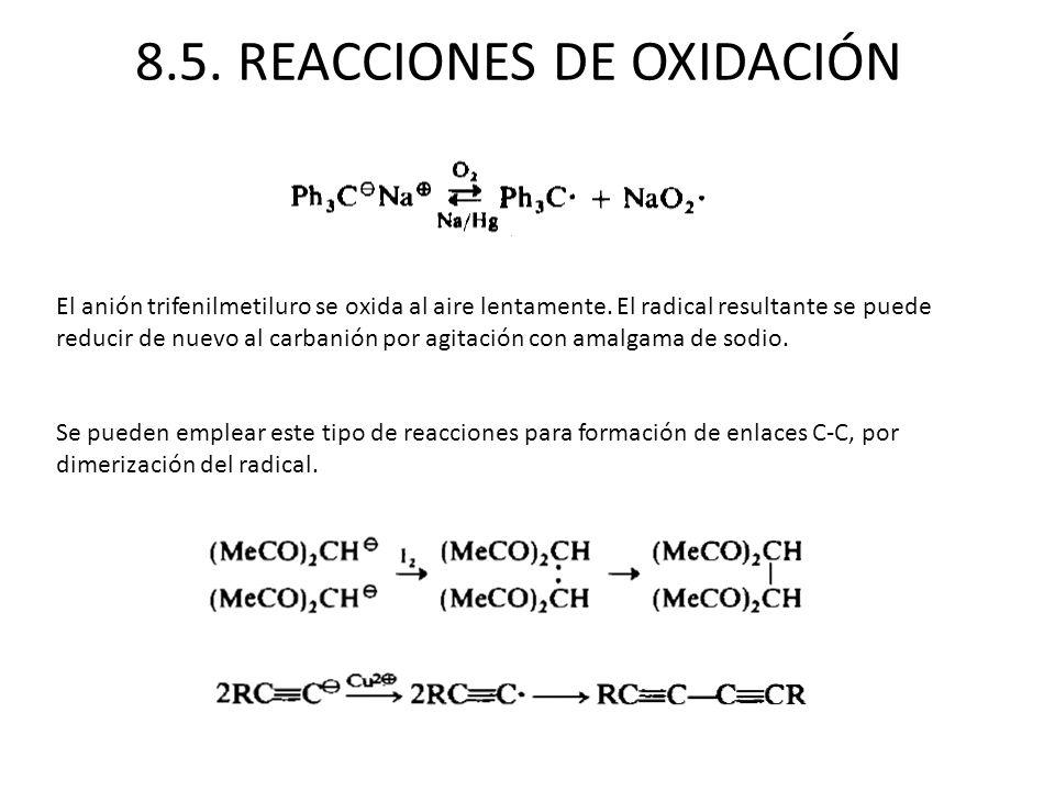 8.5. REACCIONES DE OXIDACIÓN