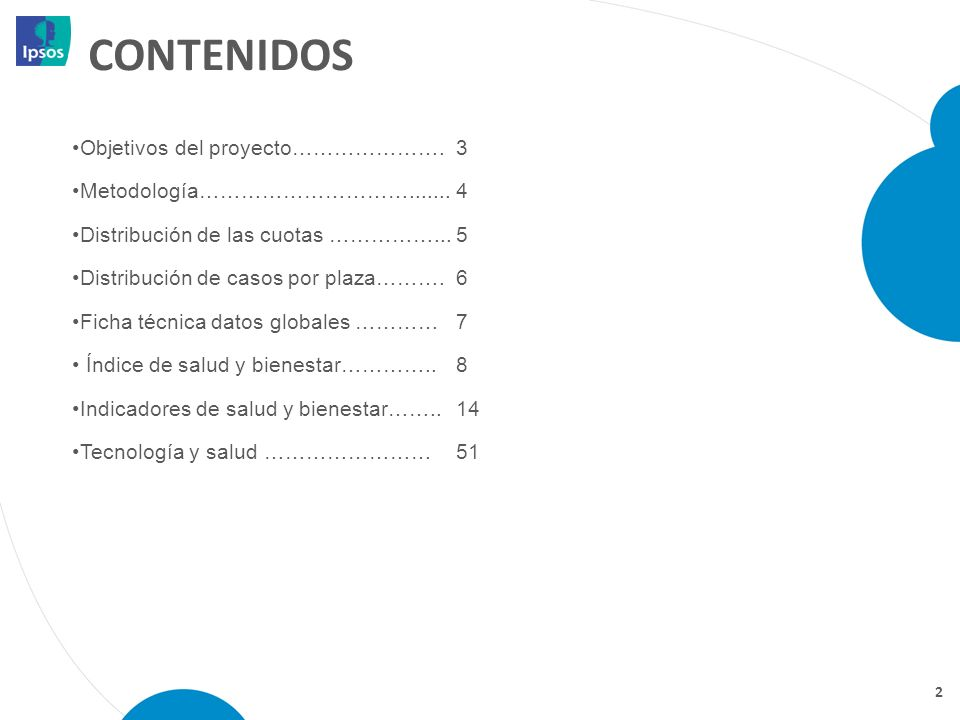 CONTENIDOS Objetivos del proyecto…………………. 3