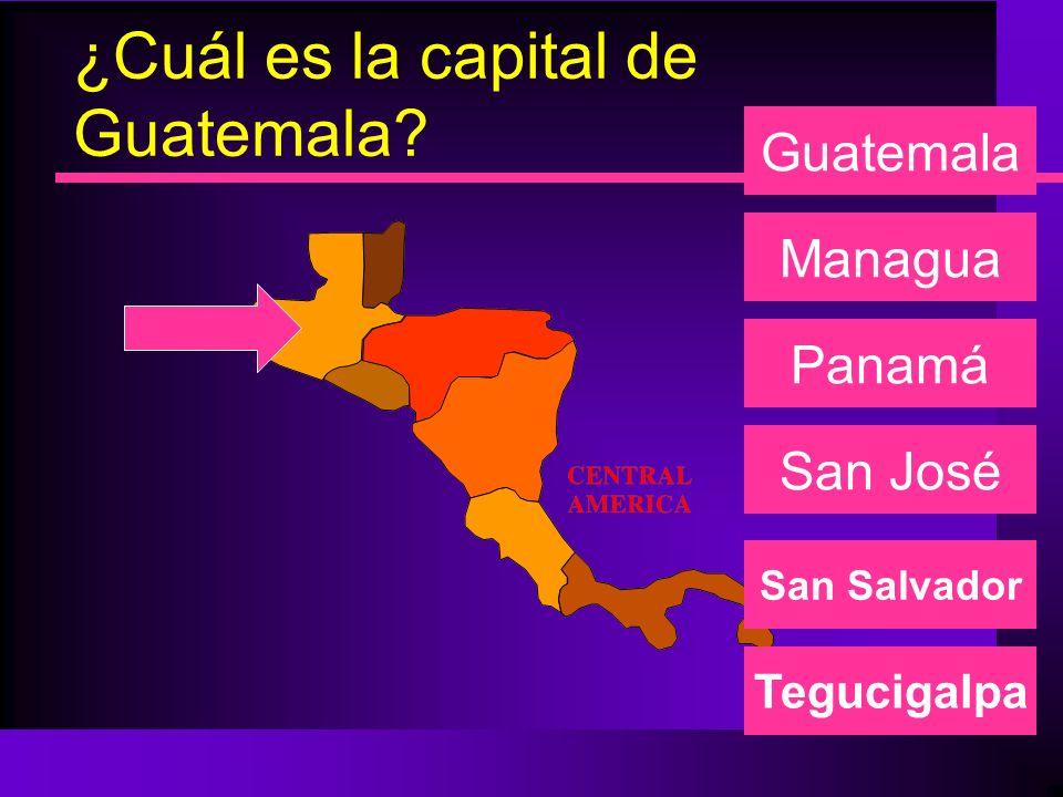 ¿Cuál es la capital de Guatemala