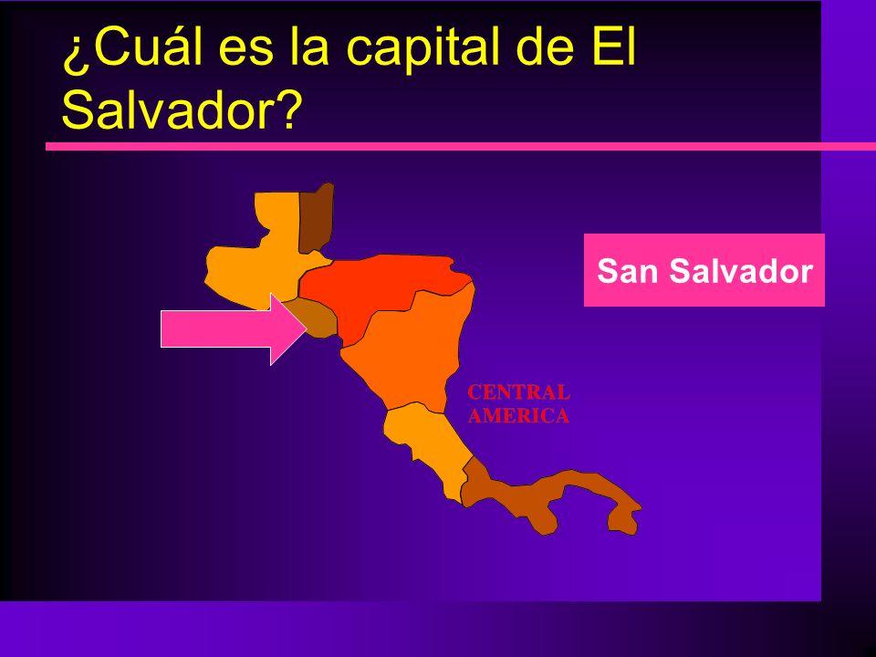 ¿Cuál es la capital de El Salvador