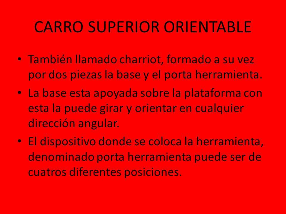 CARRO SUPERIOR ORIENTABLE