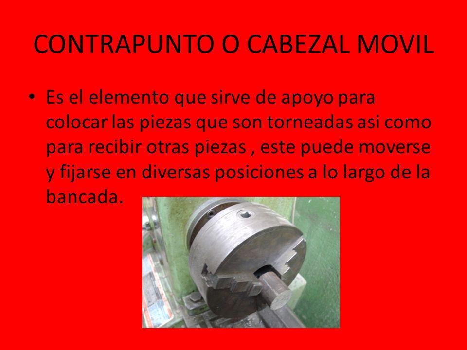 CONTRAPUNTO O CABEZAL MOVIL
