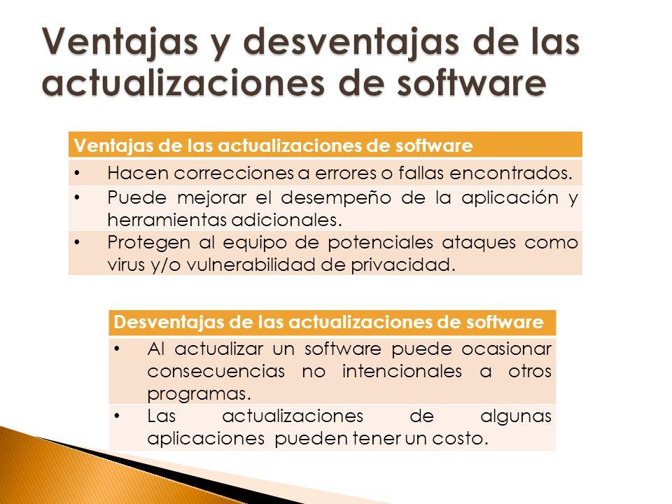 Ventajas y desventajas de las actualizaciones de software