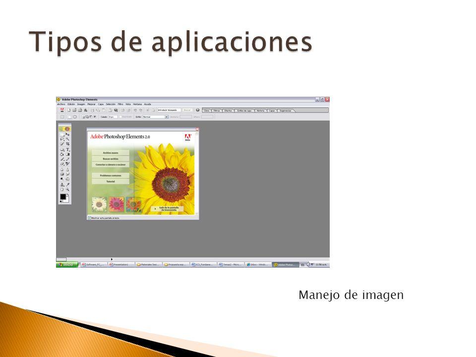 Tipos de aplicaciones Manejo de imagen