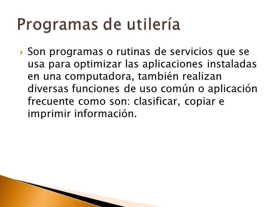 Programas de utilería