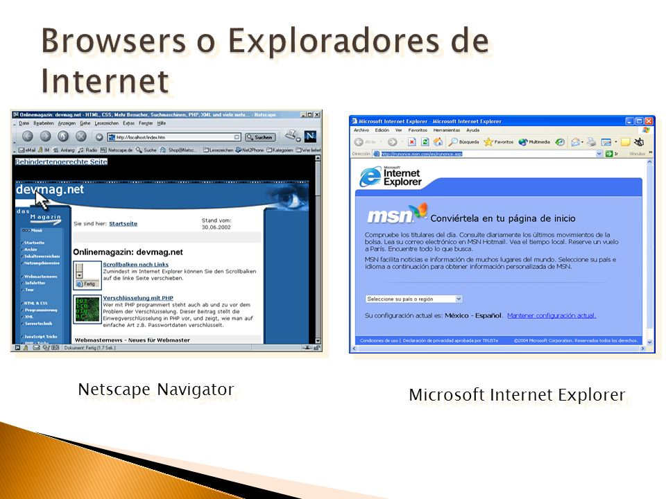 Browsers o Exploradores de Internet