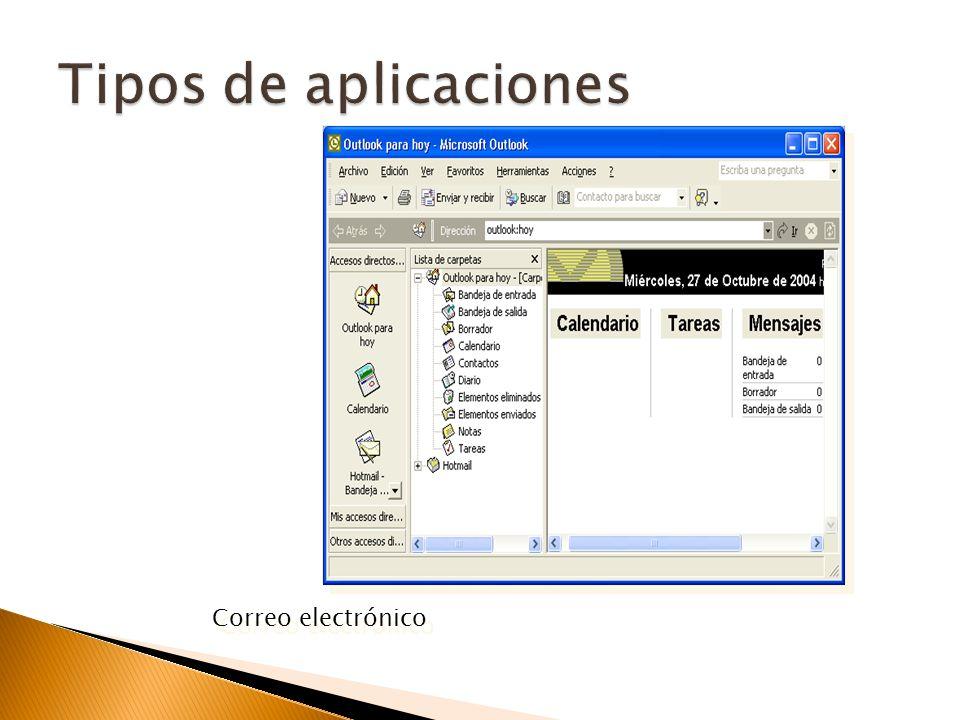 Tipos de aplicaciones Correo electrónico