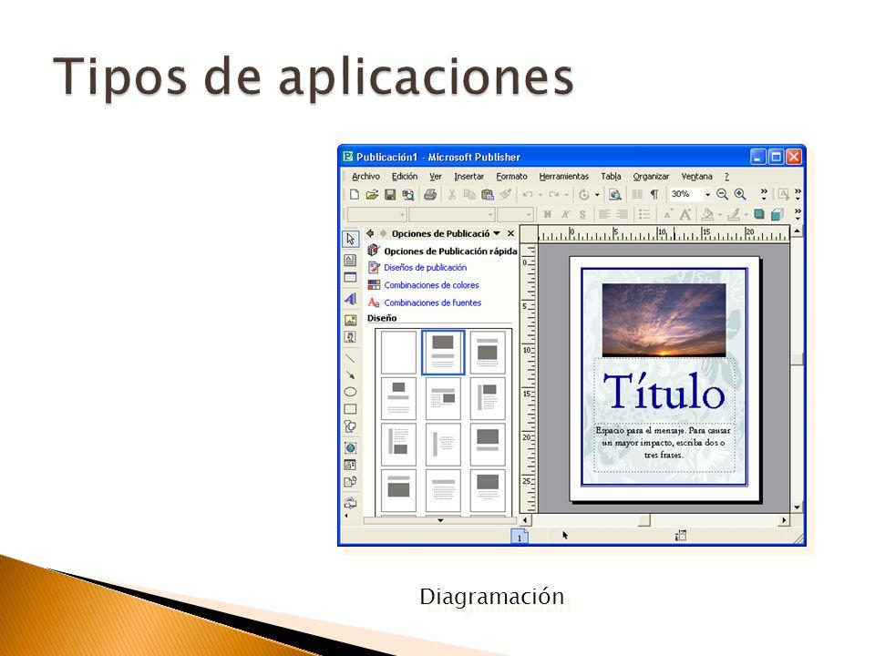 Tipos de aplicaciones Diagramación