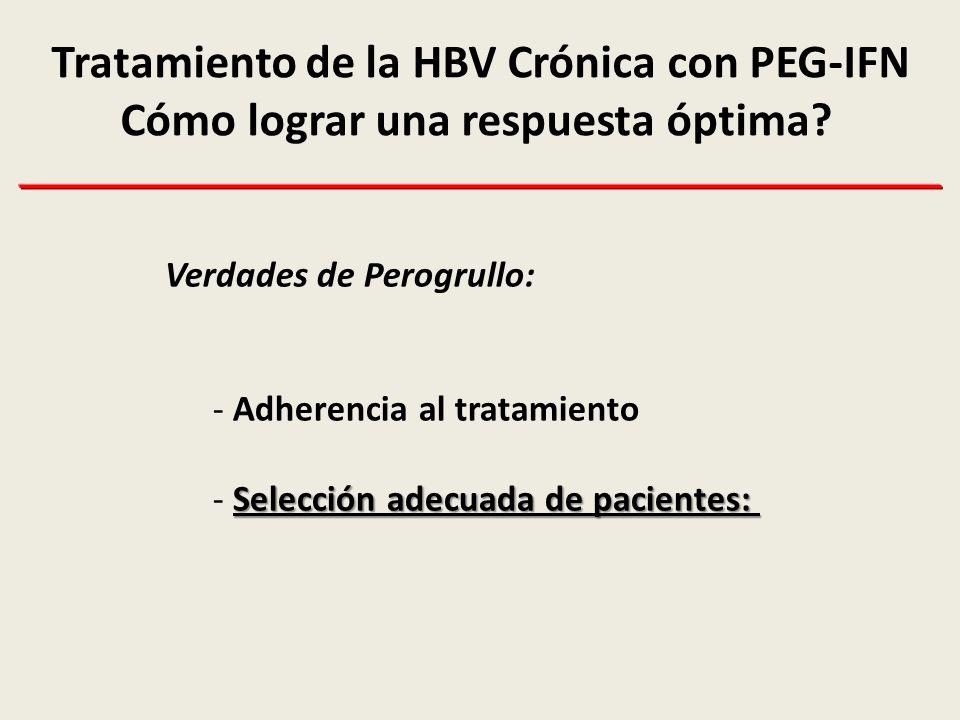 Tratamiento de la HBV Crónica con PEG-IFN