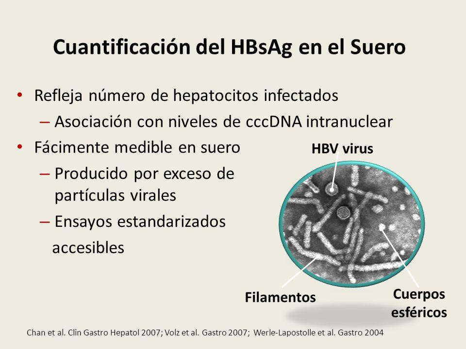 Cuantificación del HBsAg en el Suero